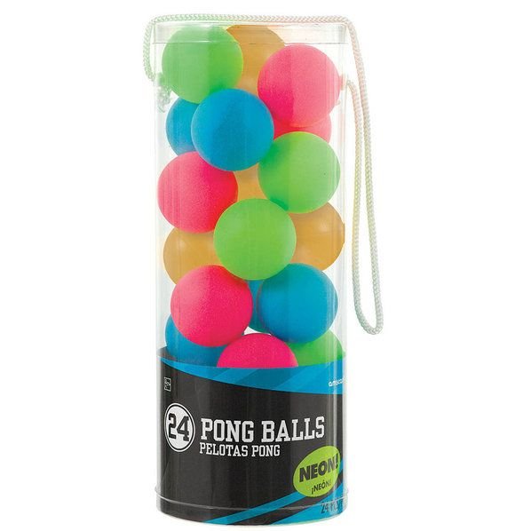 Check out Find Neon Pong Balls (24 Count) and other party supplies. The most…