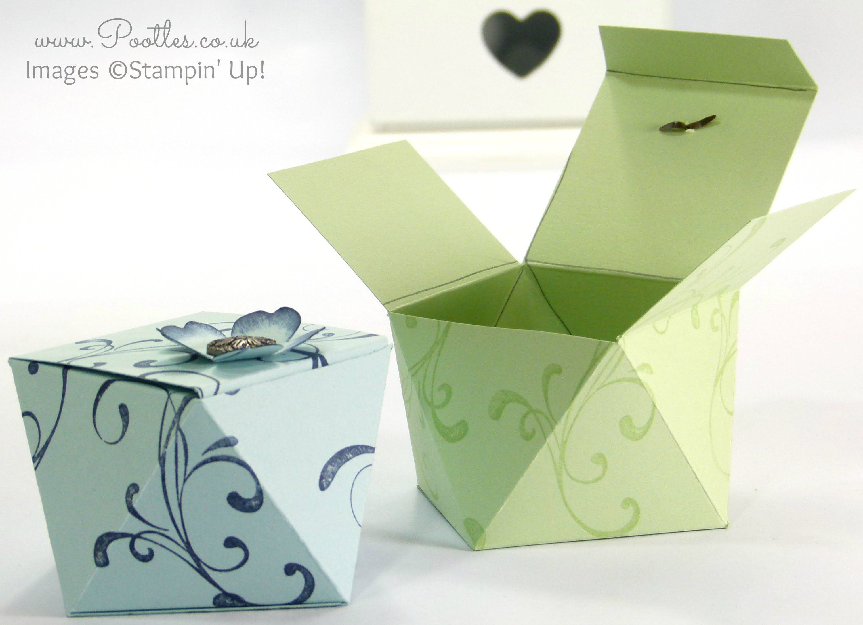 Faceted Gift Box Tutorial using Stampin' Up! Everything