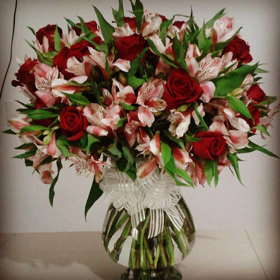 Indil ehtele decoraciones arreglo de rosas con - Decoracion de jarrones con flores artificiales ...