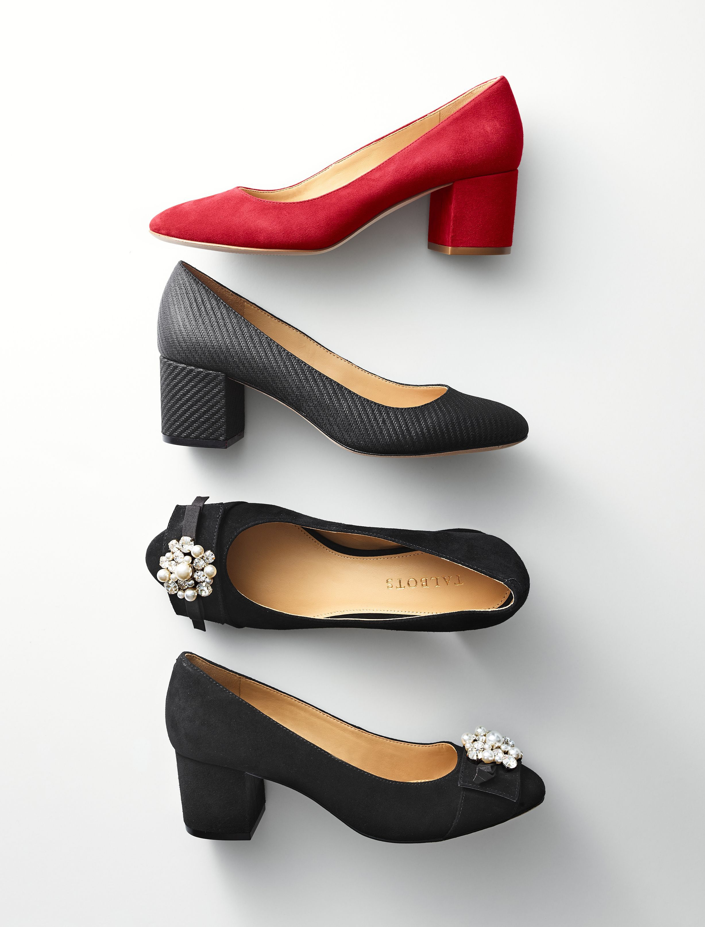 This Block Heel Pump Is The Comfortable Elegance That Can Take You From The Office To A Black Tie Affair With Ease A Modest Two I Heels Shoe City Womens Heels [ 3230 x 2455 Pixel ]
