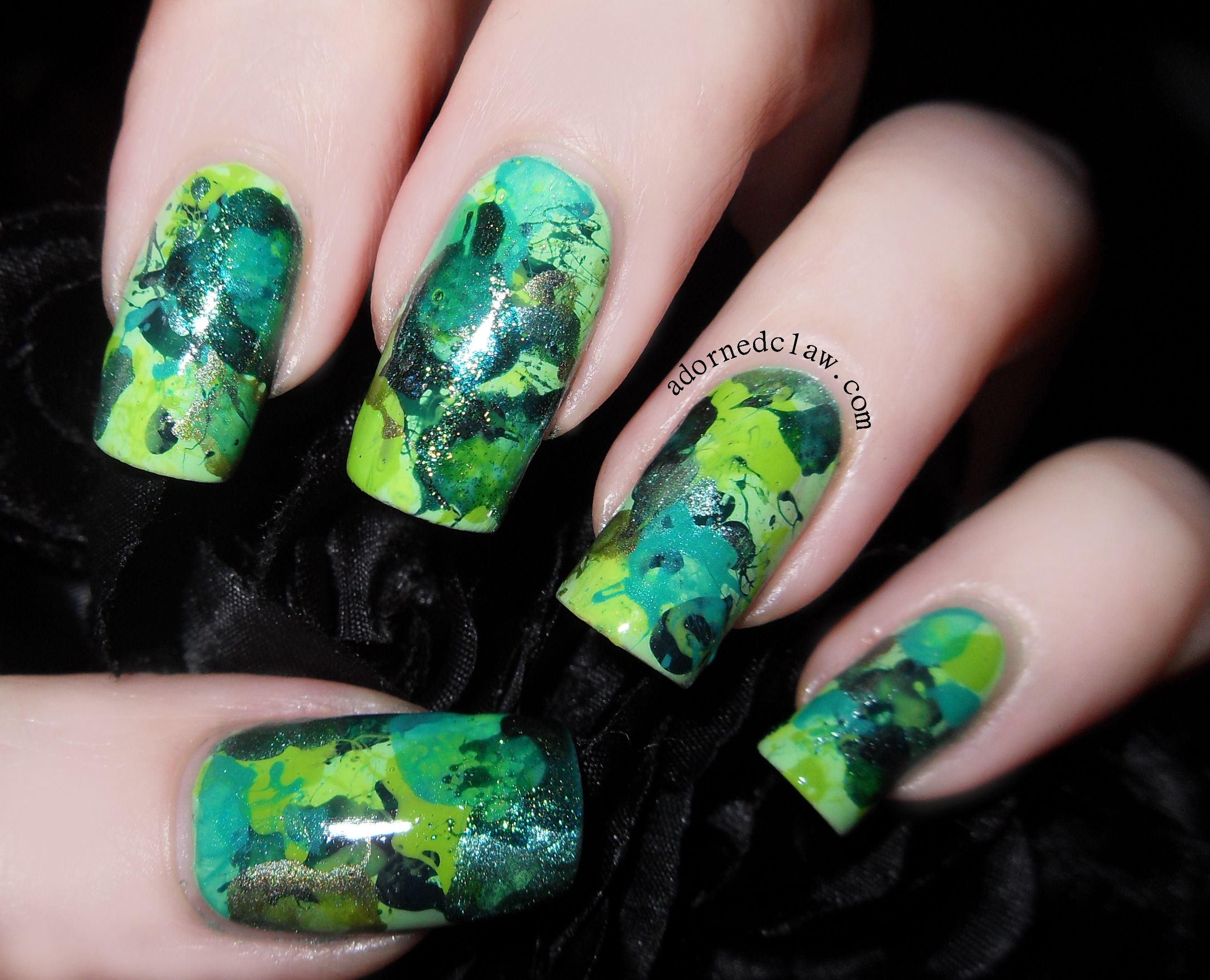 dark green holographic nail polish - Поиск в Google | NAIL ART ...