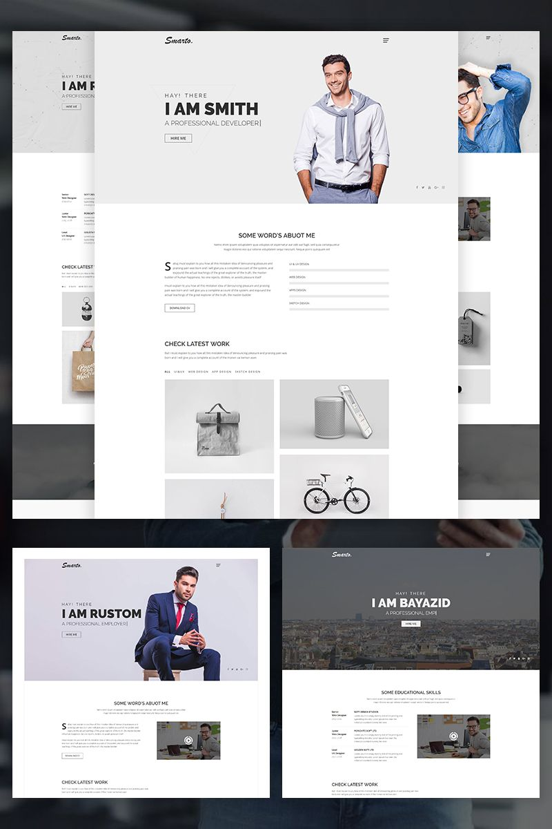smarto creative portfolio website template website creative smarto portfolio