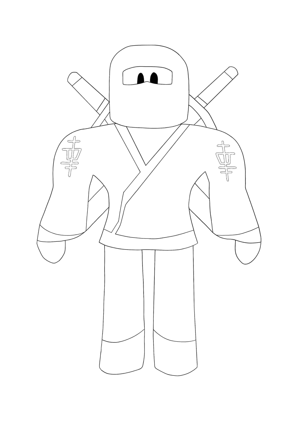 Roblox Builderman Coloring Pages