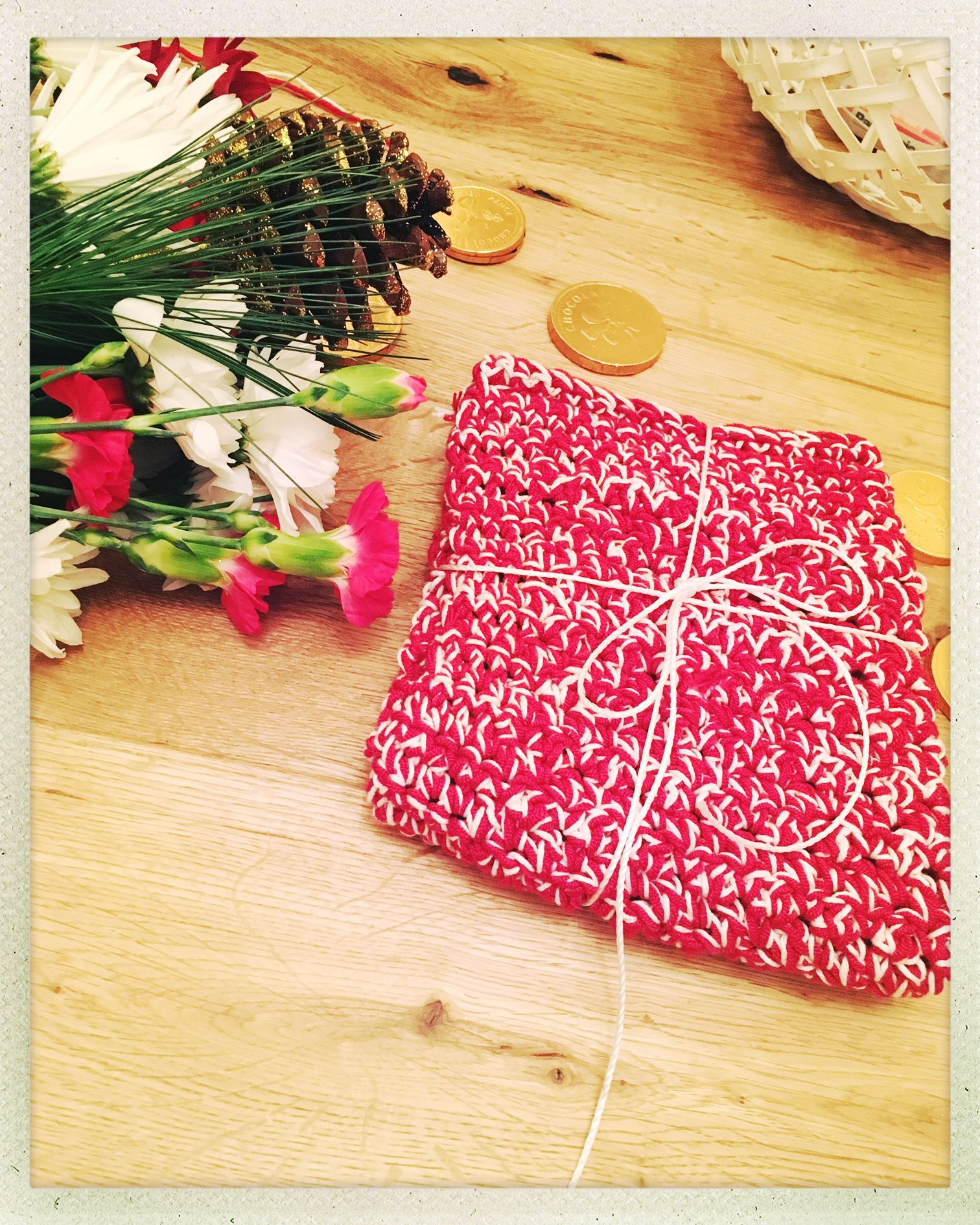 Candy Cane Christmas Washcloth A Free Crochet Pattern
