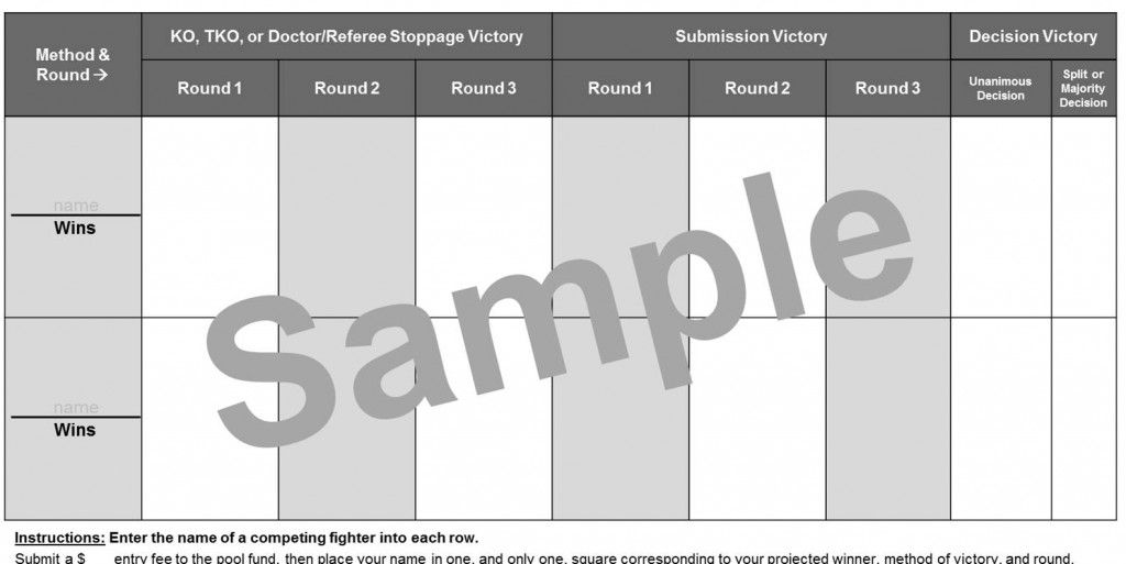 Mma Betting Squares Like Super Bowl Squares But For Ufc Fights Fightnomics Superbowl Squares Ufc Betting Super Bowl