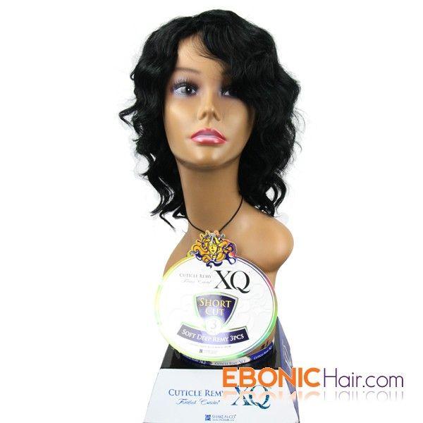 Ebonichair Xq Cuticle Remy Human Hair Short Cut Weave Soft Deep 3pcs