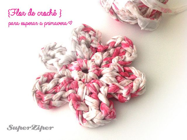 Aula de crochê: Como fazer uma flor