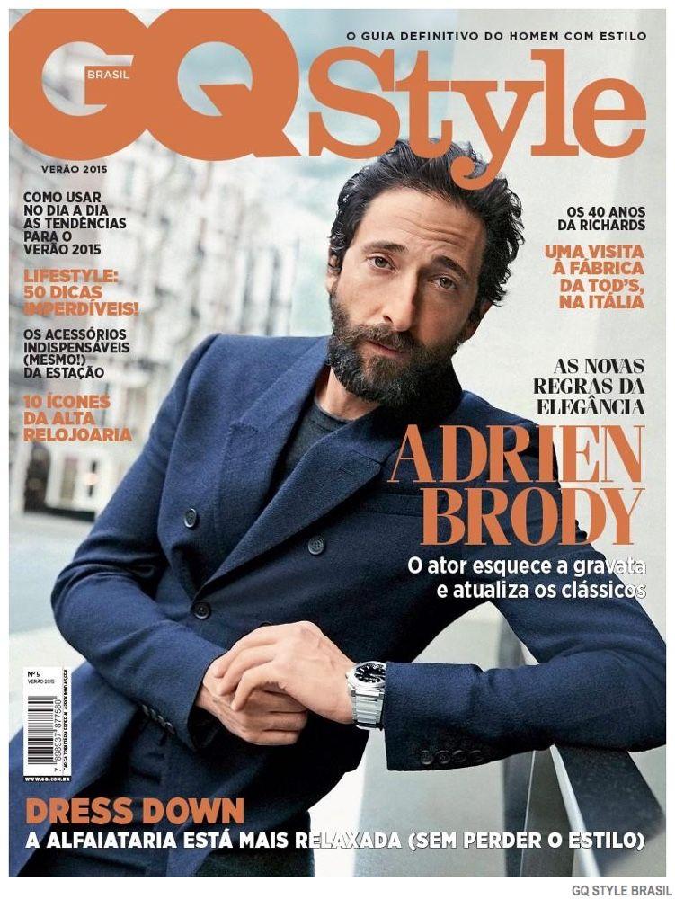Adrien Brody Covers Gq Style Brasil Summer 2015 Issue Portada De