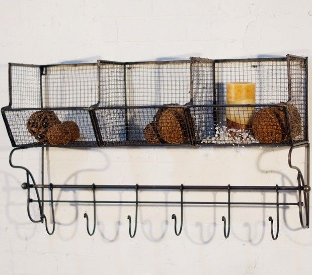 Wire Wall Bins With Hooks Metal Basket Shelf Metal Wall Basket Wire Basket Shelves Basket Shelves