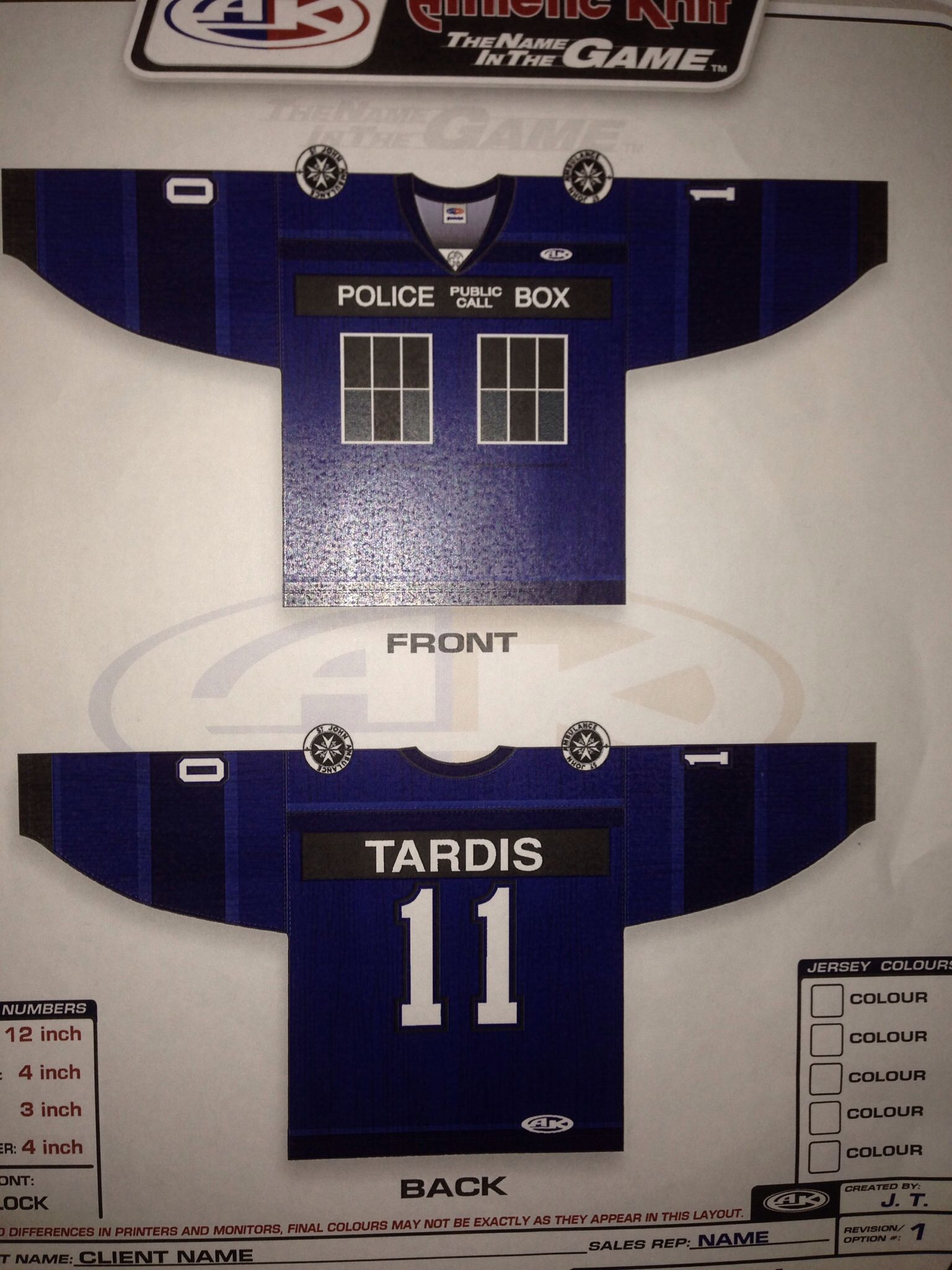 Download Mockup of Doctor Who jersey | Jersey, Name games, Public ...