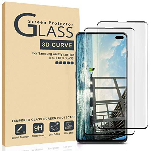 AILIBOTE Glass Screen Protector for Samsung Galaxy S10 Plus,[2 Pack] 3D Curved Tempered Gl...
