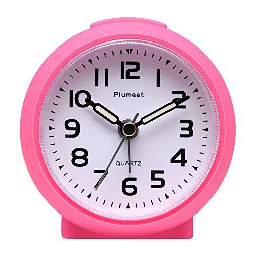 Plumeet Non Ticking Travel Alarm Clock With Snooze And Nightlight Ascending Sound Alarm Easy To Set Handheld Sized Best Gifts For Travel Alarm Clock Clock Cool Gifts For Kids