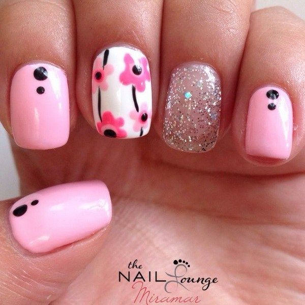 45 pretty flower nail designs flower nail art flower nails and 45 pretty flower nail designs mightylinksfo