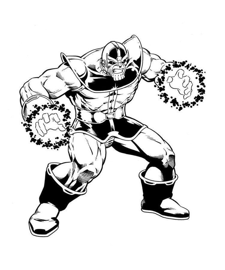 Thanos Ausmalbilder Comics Marvel E1550114124882