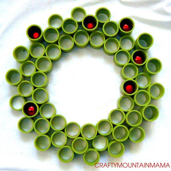21 Diameter PVC Wreath with uniform diameter by craftymountainmama, $60.00