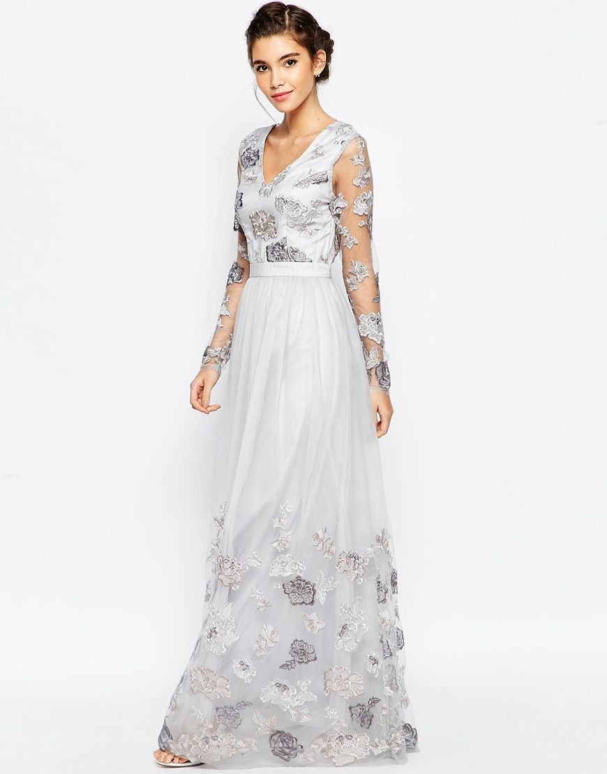 Image 2 of chi chi london petite floral embroidered maxi dress shop chi chi london petite floral embroidered maxi dress with open back at asos ombrellifo Choice Image