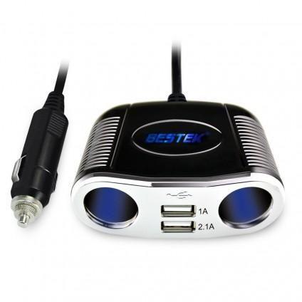 BESTEK 2-Socket Cigarette Lighter Power Adapter DC Outlet Splitter ...