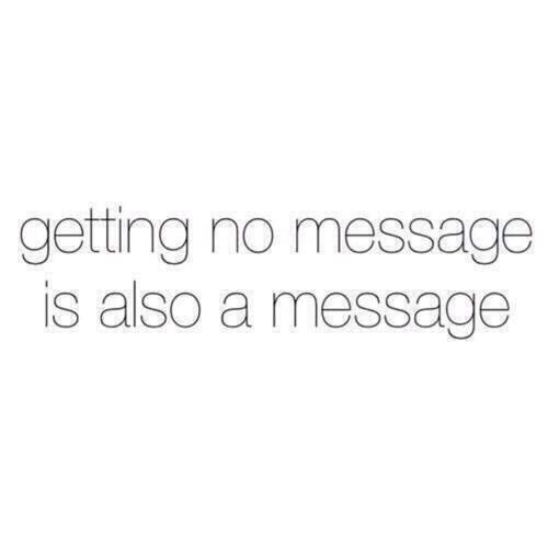 Getting No message = A message