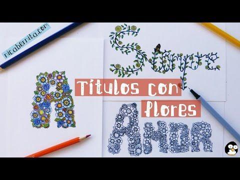 Doodle c mo hacer t tulos para cuadernos letras con - Letras para decorar ...