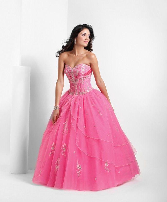 e17a6175bd3 Click to Buy    Hot Pink Quinceanera Dresses Appliques Trajes De  Quinceaneras Ball Gown Sweetheart Vestido De 15 Anos Custom Made Organza  PF81  Affiliate