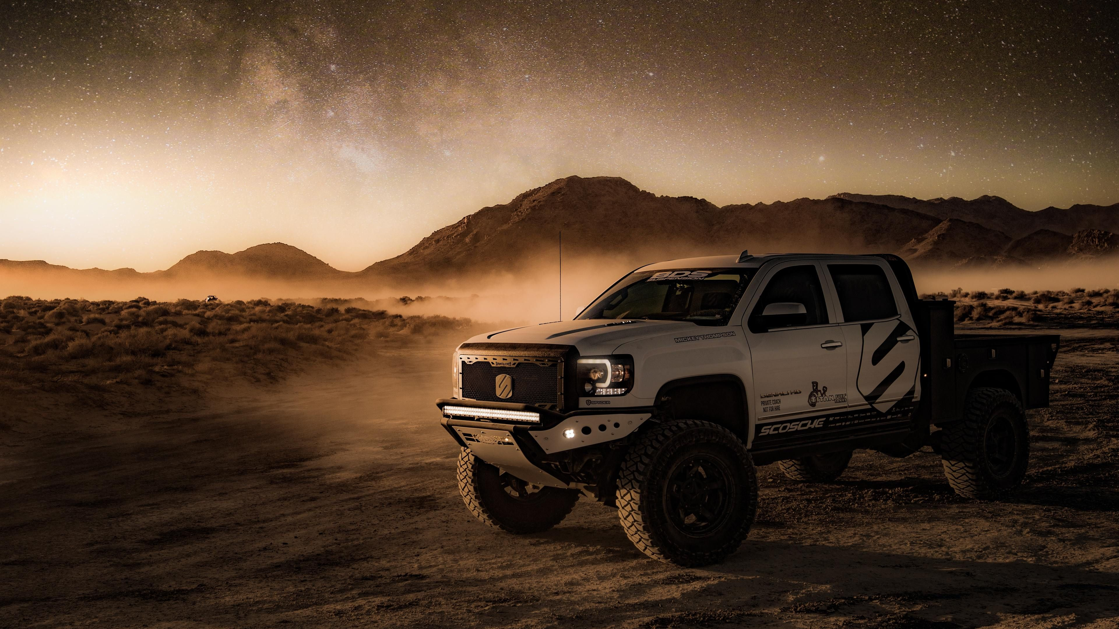 4x4 Offroad Vehicle In Desert Offroading Wallpapers, Hd