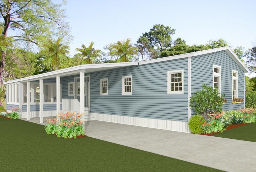 Exterior rendering of Jacobsen Home floor plan model IMP
