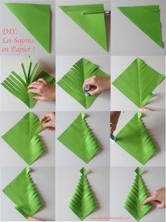 Fabrique Des Sapins De Noël En Papier Diy Facile Et Rapide Crafts