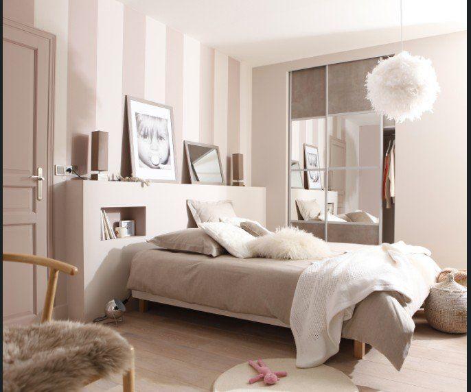 Chambre Adulte Blanc/beige/naturel SPACEO Charme / Romantique