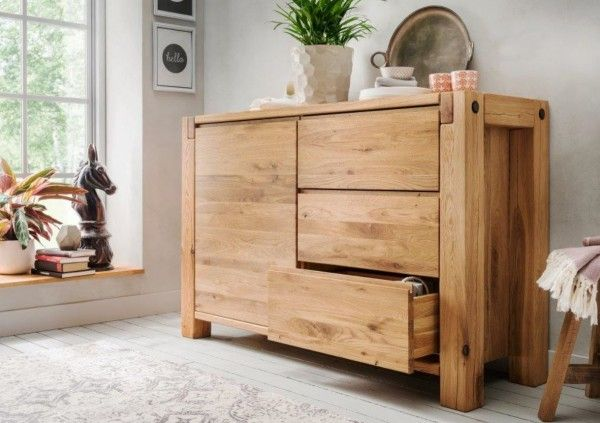 Kommode Massivholz Balkenkommode Wildeiche Landhausstil