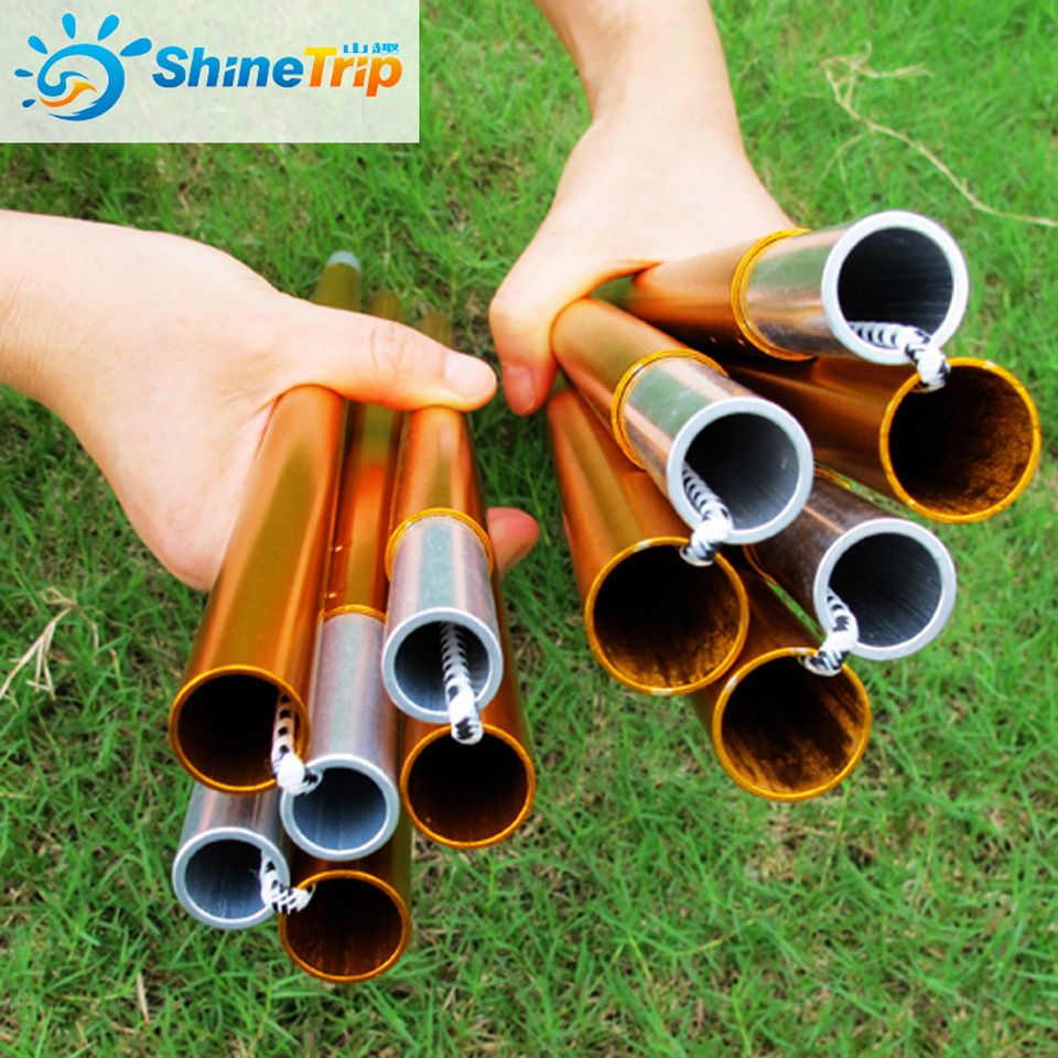 Shinetrip Camping Stuff 16mm Attractive Special Color Anodized Aluminum Awning Poles Strut Flexible Aluminum Canopy Tent Pol Tent Awning Canopy Tent Tent Poles