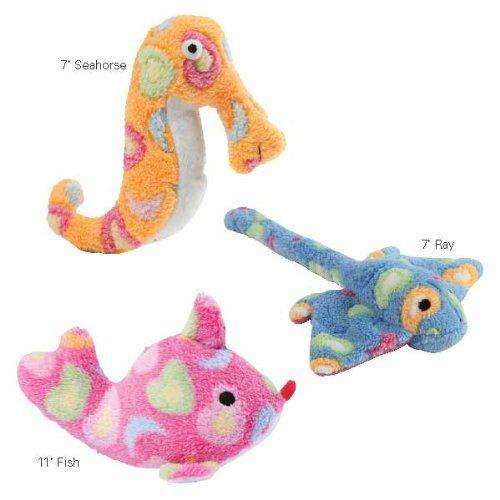 Zanies Sea Charmer Fish Peach Pet Toy Pet Lovers Ads