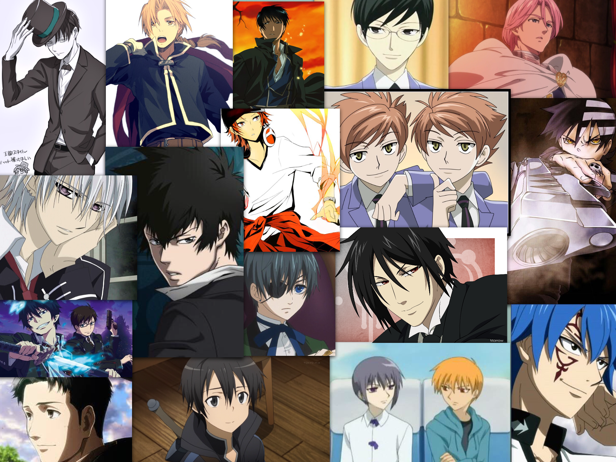 How many of Theese gentlemen can you name? Anime, Anime