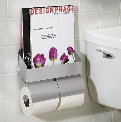 Toilet Roll Holder With Magazine Rack Toilet Paper Holder With Magazine Rack for Chronic Readers Home 13