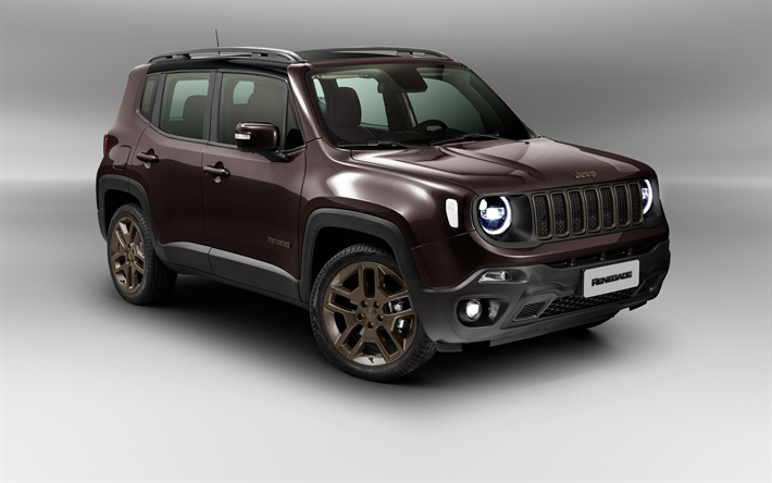Download Wallpapers Jeep Renegade Limited Studio 2018 Cars Suvs Maroon Renegade American Cars Jeep Besthqwallpapers Com Jeep Renegade Jeep Car Wallpapers