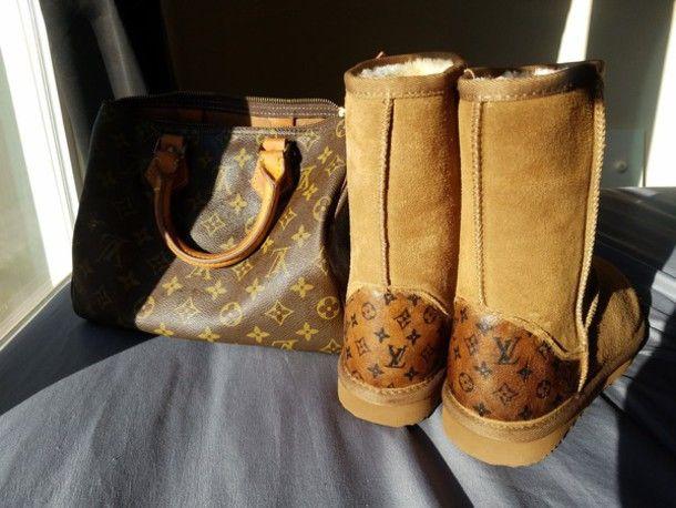 f42c59c38e6 shoes ugg boots louis vuitton winter boots custom shoes lv designer ...