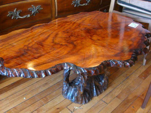 Tree Trunk Coffee Table Furniture | wood works | Pinterest | Muebles ...