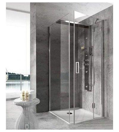 Box doccia hafro geromin bristol angolo con porta laterale
