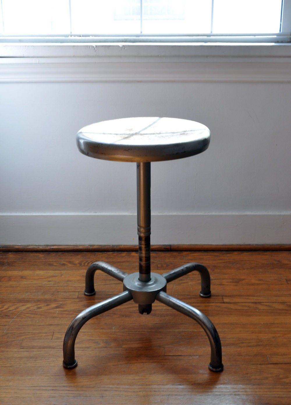 Industrial shop stool. $65.00, via Etsy.