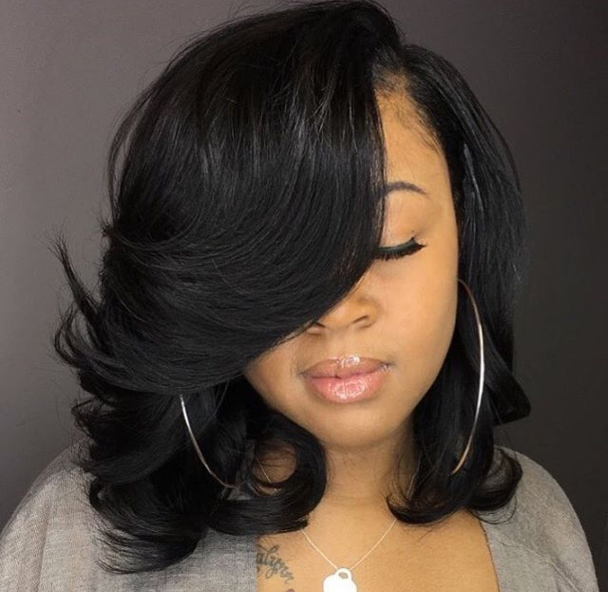 Natural looking hairstyles cuts pinterest natural bobs and wavy bob with side bangs wigs for black women human hair wigs lace front wigs african american women wigs black girl natural bob hairstyles pmusecretfo Gallery