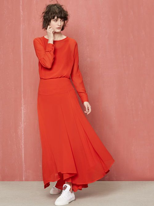 Robes rouges longues for Chaussures pour mariage robe maxi