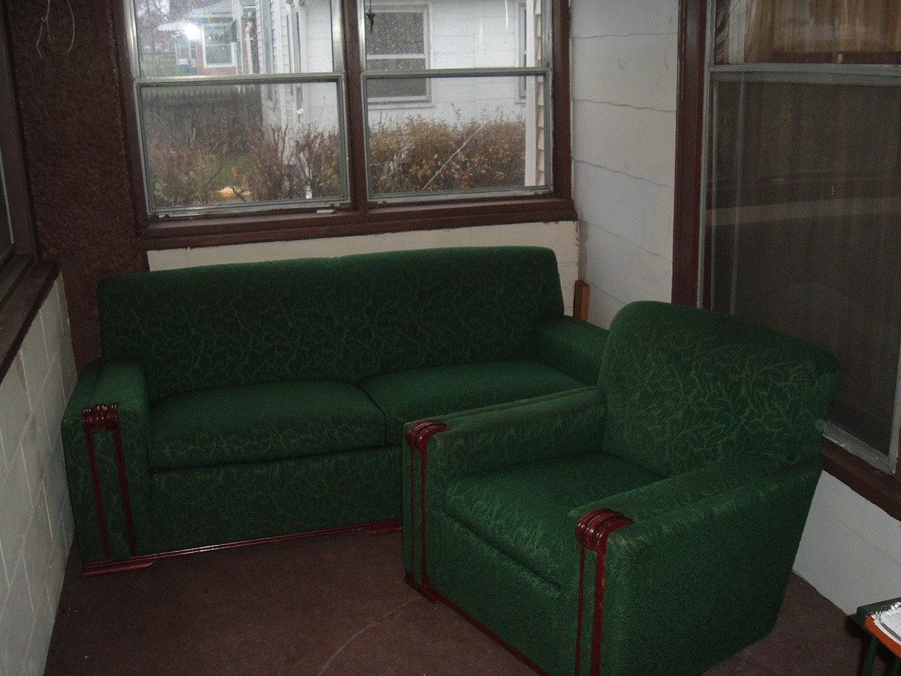 Art deco vintage leather sofa armchair - Details About Vintage 30 S Art Deco Sofa Couch And Chair