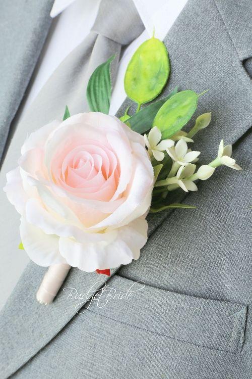 Davids Bridal Blush Pink Mens Boutonniere Ideas Wedding Bouquets Pinterest Boutonnieres And Garden Theme