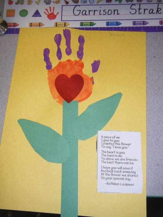 Creative Handprint Crafts For Mother S Day Kids Mothers Day