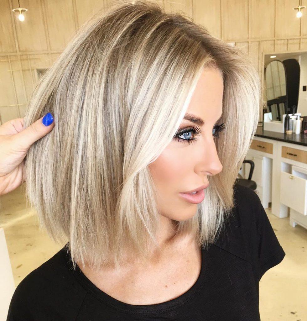 short blonde hair in 12  Straight blonde hair, Hair styles