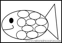 Use this rainbow fish template to teach students caring