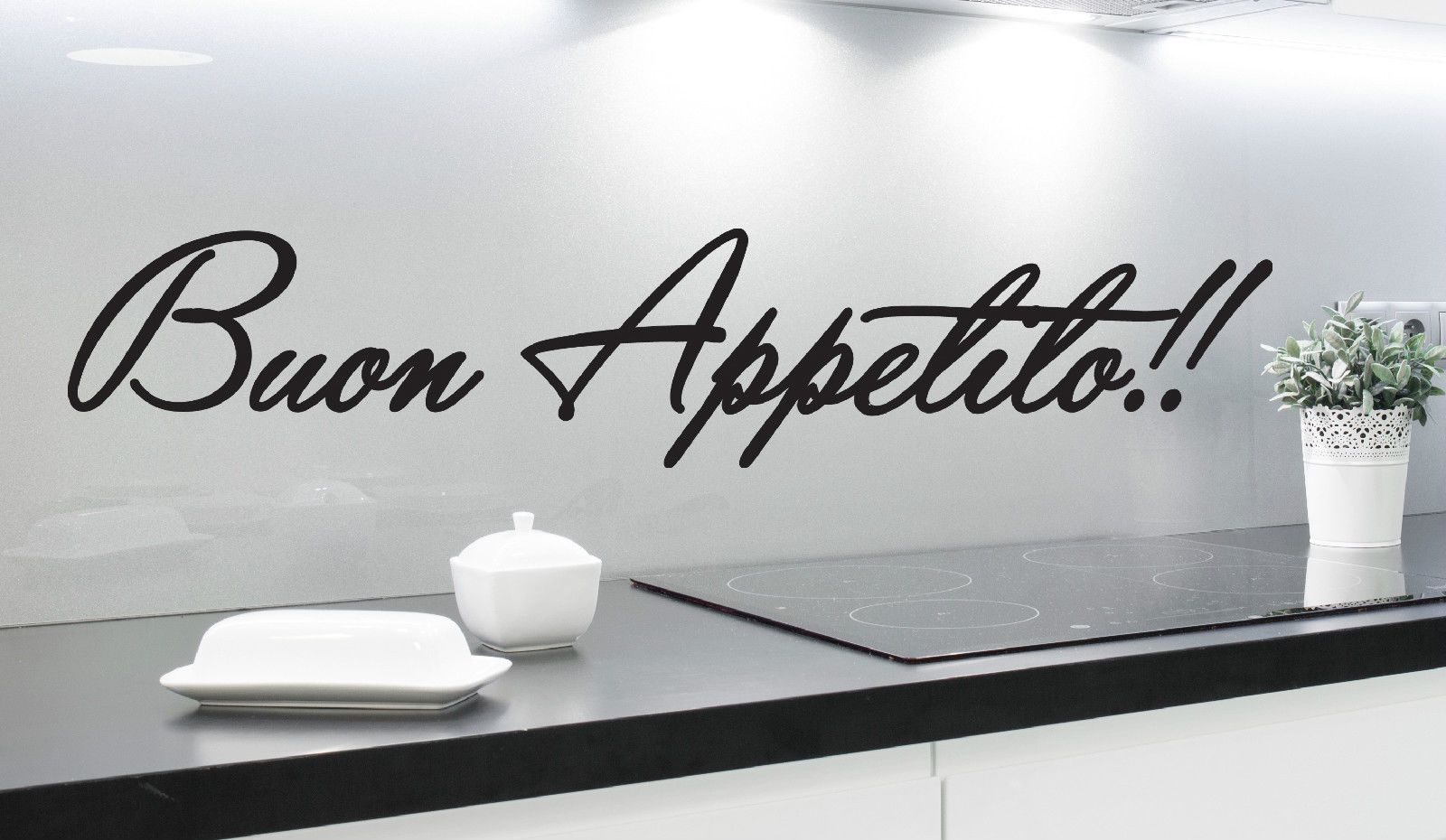 Buon appetito bon appetite wall art sticker italian quote kitchen
