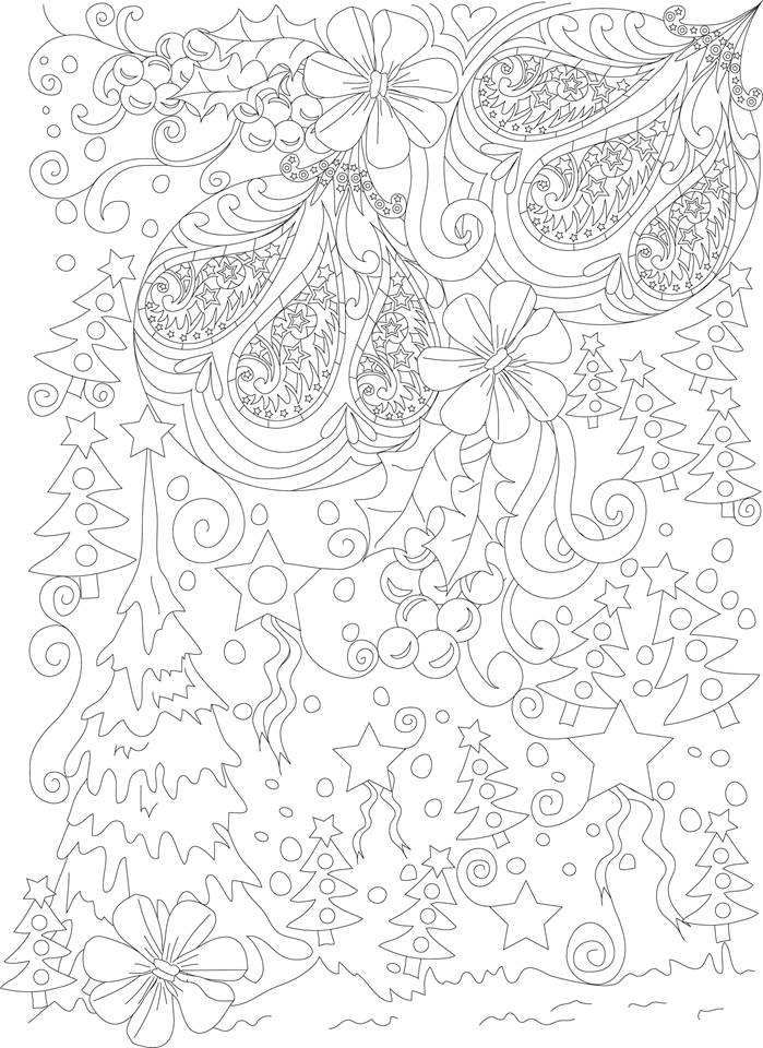 ADULT COLORING BOOK: 50 Christmas Coloring Pages, Coloring Books For Adults Series By ColoringCraze