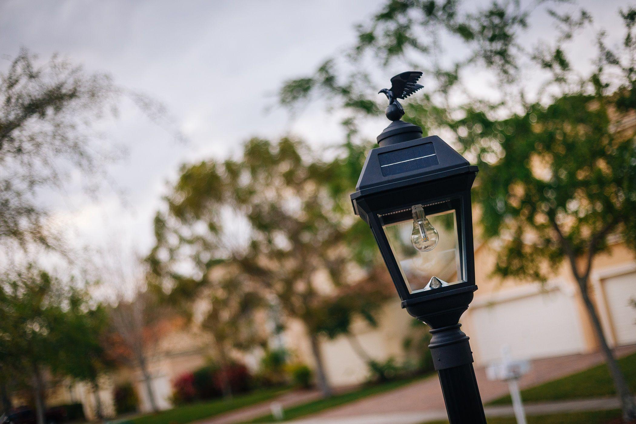 Imperial Bulb Solar Lamp 3 Pole Mount With Gs Solar Led Light Bulb Gs 97b F Solar Powered Outdoor Lights Solar Led Lights Solar Lamp Post