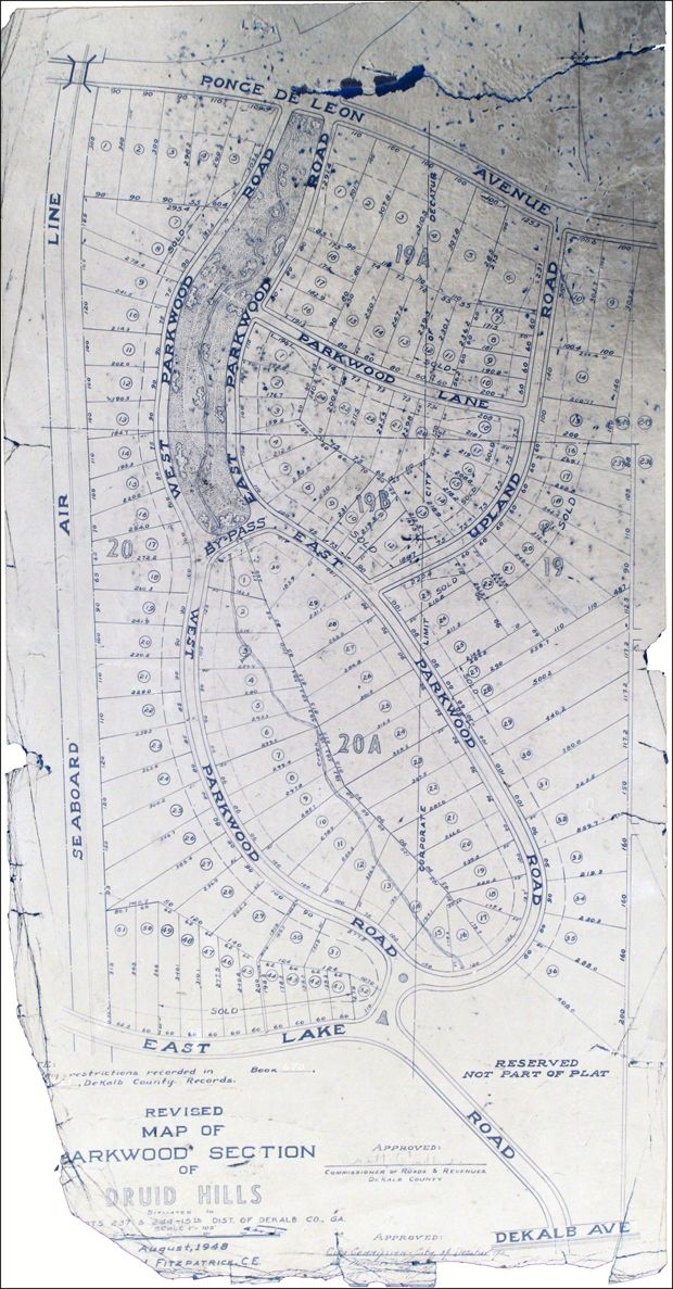 1948 Decatur Ga Plat Map Courtesy Of Historian For Hire Oh