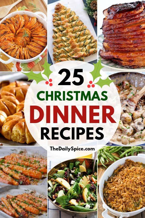 25 Delicious Christmas Dinner Recipes: Dinner Ideas